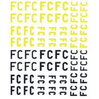 Försökscentralen FC letters. UV-printed